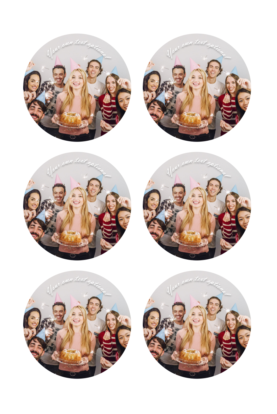 YOUR OWN EDIBLE PHOTO cupcake toppers ANY personalised image ICING OR WAFER 3