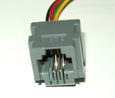 Lot of 5 Modular Jacks with leads RJ11/RJ14 wiring 6P4C, Part# 623K, see photos 4