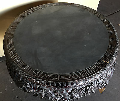 "ANTIQUE CHINESE CARVED TABLE STAND  36"" Diameter  ""T875"" 3"