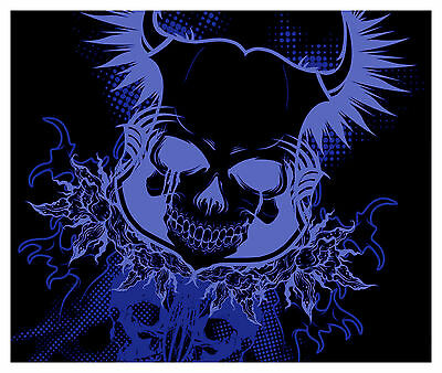 H10 SKULL Hood Wrap Wraps Decal Sticker Tint Vinyl Image Graphic