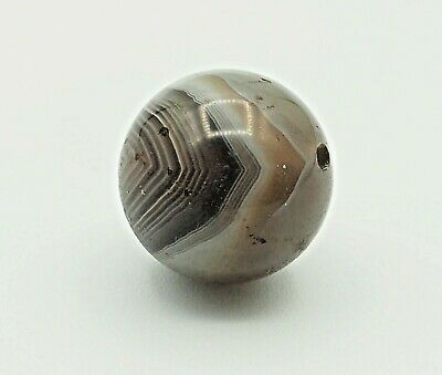 STUNNING!! Spider web Eye! ANCIENT RARE INDO-TIBETAN BANDED SULEIMANI Bead 2