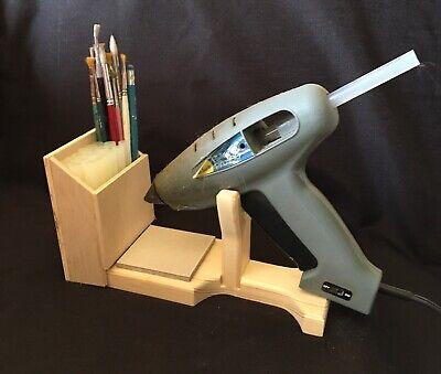 Hot Glue Gun Holder Regular & Mini Original Wood Stand Organizer Floral Crafts 3
