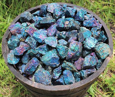10 oz Box Lot of Raw Rough Natural Chalcopyrite 8 - 12 Pieces (Peacock Ore) 2