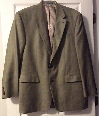***EUC*** Ralph Lauren Men's Silk Wool Linen Tan Brown Jacket Blazer • Size 44L 2