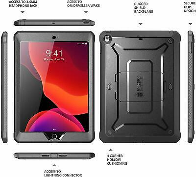 For iPad 10.2 2019 / iPad 7th Gen Case, SUPCASE UB PRO Cover w/ Screen Protector 2