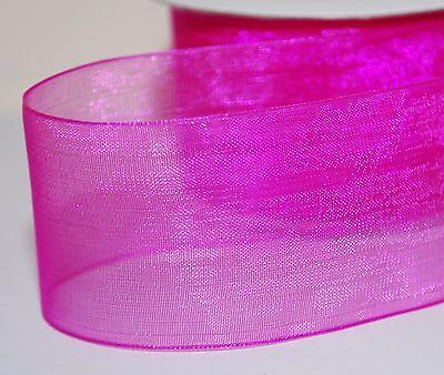 2-10m  Various Colours-Types  Woven Edge Organza Sheer Chiffon Wedding Ribbon 3
