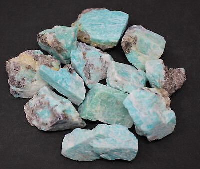2000 Carat Lot Bulk Natural Rough Amazonite Crystal Healing Raw (400 Grams) 5