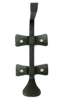 "2 HAND FORGED 6.8"" SHELF BRACKETS WROUGHT IRON Country Antique Wall Decor Holder 5"