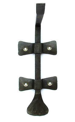 "HANDMADE WROUGHT IRON 6.8"" SHELF BRACKET Country Antique Metal Wall Decor Holder 5"
