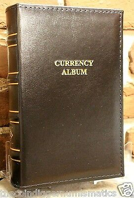 Lighthouse Currency Holder Album Leather Regular Banknote 30 Binder Page Book 6