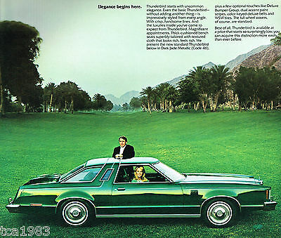 /'77 T-BIRD ACCESSORIES CATALOG 1977 FORD THUNDERBIRD BROCHURE 2 for 1 deal!