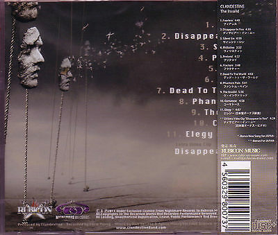 CLANDESTINE The Invalid + 1 JAPAN CD US Female Progressive Gothic Extreme Metal 2