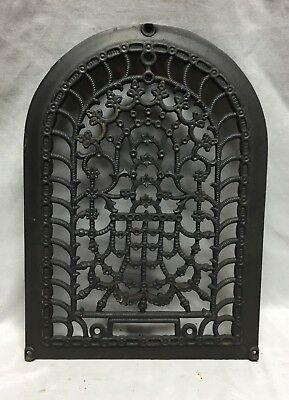 One Antique Arched Top Heat Grate Grill Stars Flowers Pattern Arch 10X14 634-18C 3