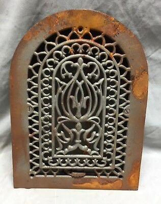 One Antique Cast Iron Arch Top Heat Grate Wall Register 8X12 Dome Vtg 24-19C 9