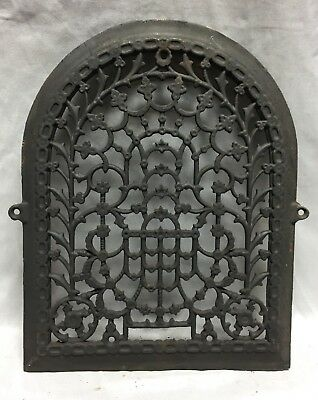 One Antique Arched Top Heat Grate Grill Stars Flowers Pattern Arch 11X14 635-18C 3
