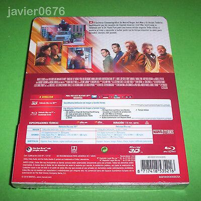 Ant-Man Y La Avispa Blu-Ray 3D + Blu-Ray Nuevo Y Precintado Steelbook Marvel 2