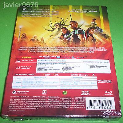 Thor Ragnarok Blu-Ray + Blu-Ray 3D Nuevo Y Precintado Steelbook Marvel Studios 2