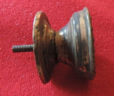 Antique 19th c. Gilt Brass Furniture Knob Drawer Pull Handle Federal Regency 3