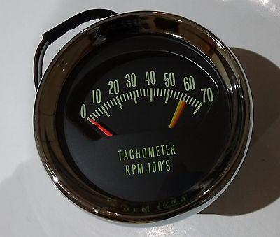 66 chevy chevelle el camino ss knee knocker tach tachometer 6200 rpm