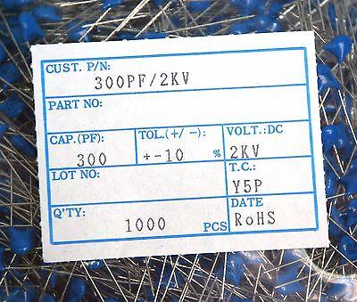 100pc Disc Ceramic Capacitor 301K 300pF 1KV K ±10/% Y5P RoHS Taiwan