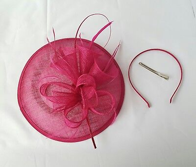 Large Headband and Clip Hat Fascinator Weddings Ladies Day Race Royal Ascot 3