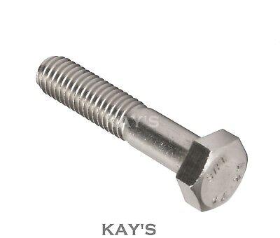 """Unf Part Threaded Bolts A2 Stainless Steel Hexagon Screws 1/4 5/16 3/8 7/16 1/2"""" 2"""