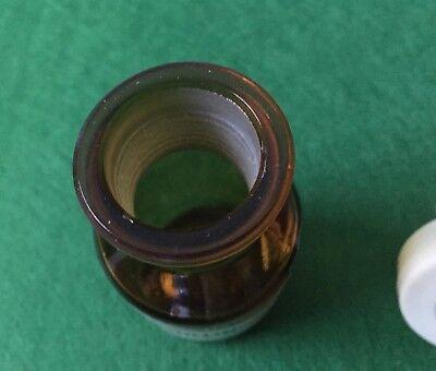 alte Apothekerflasche Braunglas VANILLIN. Kunstoffstopfen Höhe 83 mm 70 Gramm