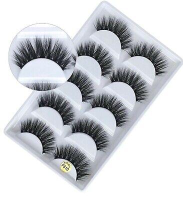 💙5 Pairs 3D False Eyelashes Mink Wispy Cross Long Thick Soft Fake Eye Lashes💙 9