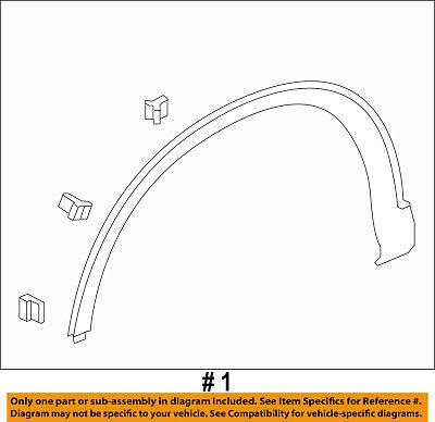 HONDA OEM 2016 CR-V Front Fender-Wheel Well Flare Arch Molding Left 74165T0AA02