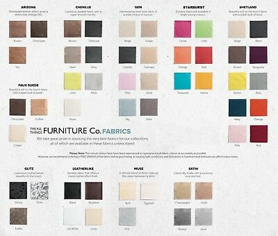 Cosenza Floor Standing Headboard Various Sizes and Colours Plus Swatch 9