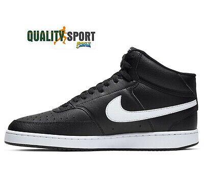 NIKE COURT VISION Mid Nero Scarpe Shoes Uomo Sportive