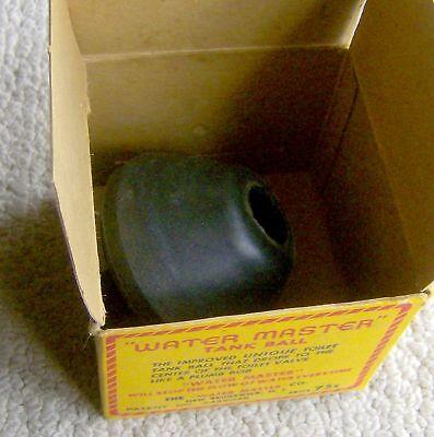 RARE antique vintage WATER MASTER toilet TANK BALL 1920s ORIGINAL PACKAGING old 4