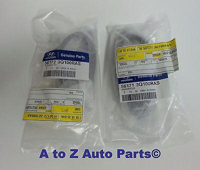 NEW 2011-2014 Hyundai Sonata LH /& RH Grey Steering Wheel Bezels or Inserts OEM