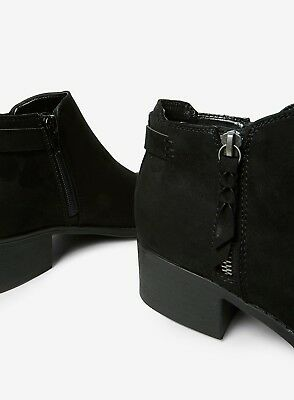 Ex Dorothy Perkins WIDE FIT Black Faux Suede Ankle Boots Size 3 - 9  RRP £28 5