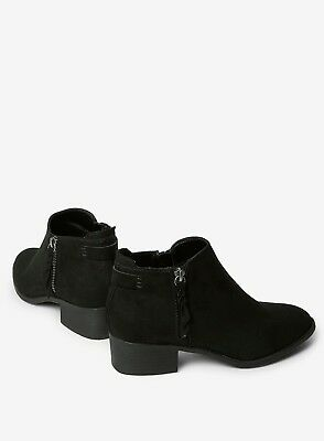 Ex Dorothy Perkins WIDE FIT Black Faux Suede Ankle Boots Size 3 - 9  RRP £28 3