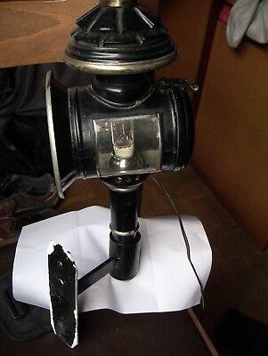 Lanterna a GAS da Carrozza Original trasformata in AbatJour  a Muro Antiquariato 10