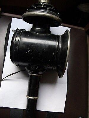 Lanterna a GAS da Carrozza Original trasformata in AbatJour  a Muro Antiquariato 7