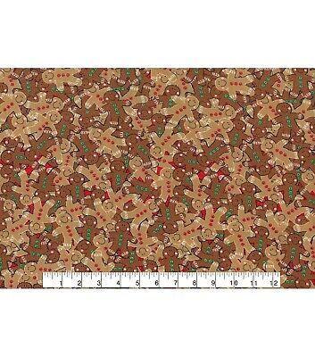 Printed Bow Fabric A4 Christmas Gingerbread Man CM24 Make glitter bows