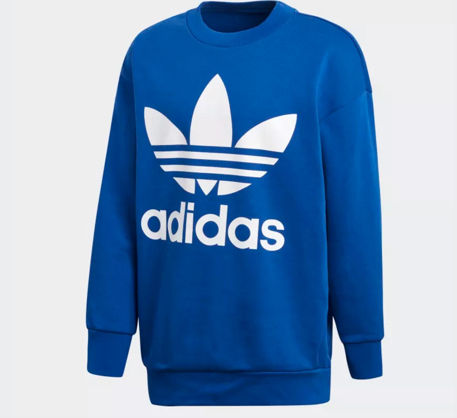 ADIDAS ORIGINALS OVERSIZE Trefoil Sweatshirt Blau Herren