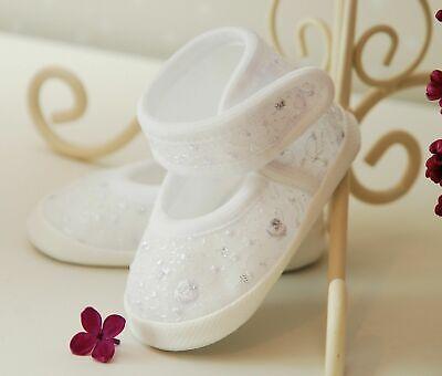 Taufschuhe Babyschuhe Ballerina in der Farbe rosa,weiss ecru Taufe Schuhe