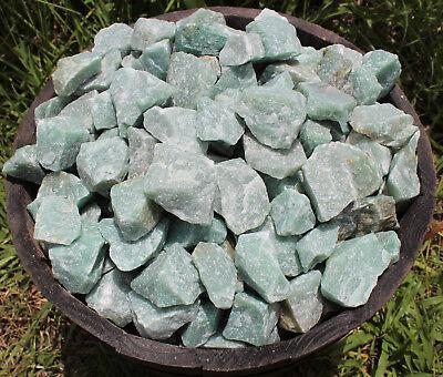 500 Carat Bulk Lot Natural Rough Green Aventurine, Raw Gemstone (100 Grams) 8