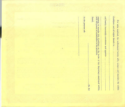 NEW JERSEY 1934, New Jersey Interurban Coach Co Stock Certificate