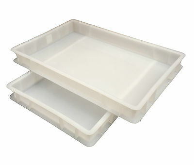 Plastic Stacking Food Grade Pizza Dough Bakery Euro Trays - Commercial Quality! 3
