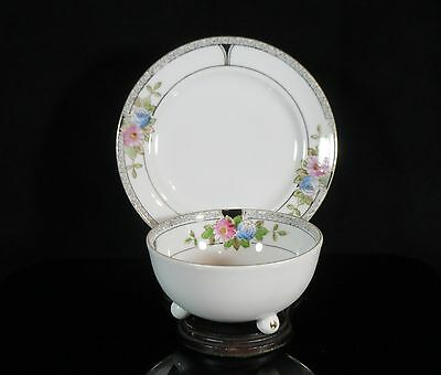 Footed Bowl and Underplate - Noritake/Morimura - Footed Bowl - Art Deco 3