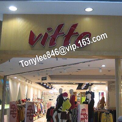 NEW Custom size LED Frontlit Channel Letter Sign Decor Vintage Neon shop sign Wa 2
