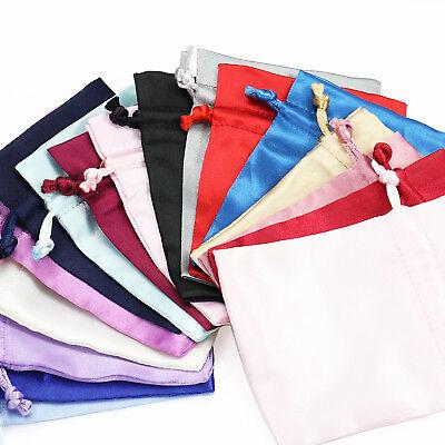 Satin Silk Weddding Favour Gift Bags Drawstring Jewellery Pouches Wholesale UK 2