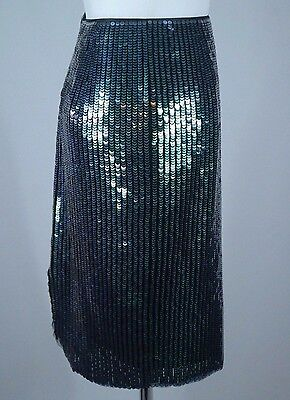 d4ffa0d0fa ... Women's H&M Green Mermaid Fish Scale Sequin Designer Pencil Skirt - Sz  2/Eur 32