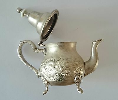 Old Beautiful  Handcrafted Marked  Islamic  Moroccan Hammered Teapot Tea Pot 5