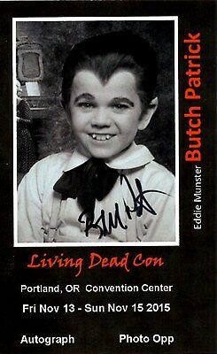 Butch Patrick Eddie Munster The Munsters Autographed 8X10 Photo #1 3