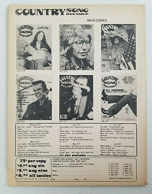 Country Song Roundup Yearbook Magazine 1978 - Ronnie Milsap - Elvis Presley 3